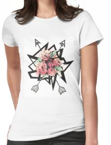 Floral shapes Womens Fitted T-Shirt