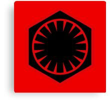 The First Order Logo Canvas Print