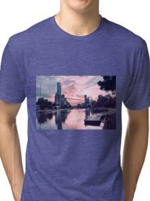Enjoying Beautiful Melbourne City Tri-blend T-Shirt