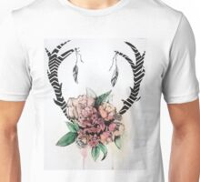 Floral Antlers Unisex T-Shirt