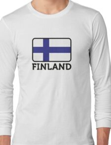 National Flag of Finland Long Sleeve T-Shirt