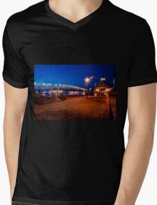 Yorktown Beach at Twilight Mens V-Neck T-Shirt