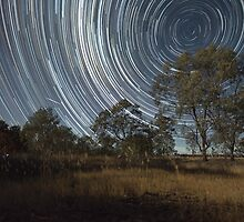 Startrail, Lake by Rabs79