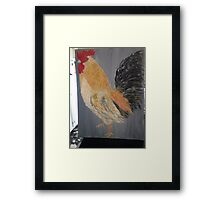 Magestic Rooster Framed Print