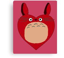 Valentines Totoro Canvas Print