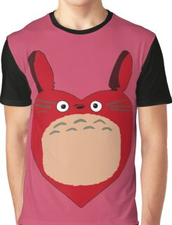 Valentines Totoro Graphic T-Shirt
