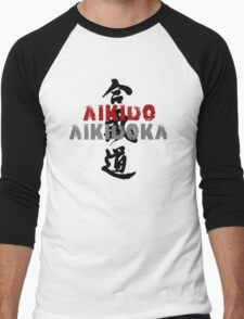Aikido Aikidoka Men's Baseball ¾ T-Shirt