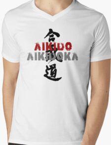 Aikido Aikidoka Mens V-Neck T-Shirt
