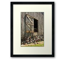 Barn Door Propped Framed Print
