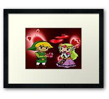 Toon Link and Toon Princess Zelda Valentine's Day Theme Framed Print