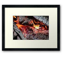 Grey Hot Coals Framed Print