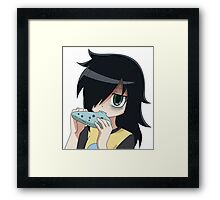 Tomoko with Ocarina Shirt Framed Print