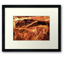 Swirling Flames Framed Print