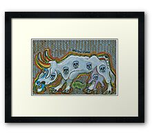Mad Cow Disease Framed Print