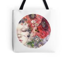 Sleeping Beauty Botanical Flowers Poppies Magic Tote Bag