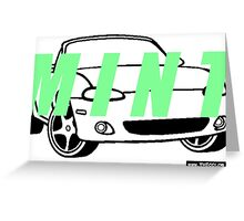 Mint Miata  Greeting Card