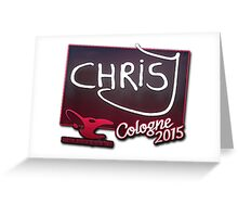 mouz chrisJ - Cologne 2015 Sticker Greeting Card