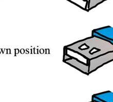 usb super position  Sticker