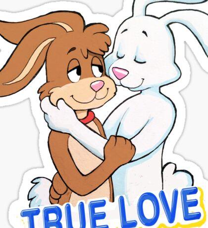 TRUE LOVE NESQUIK TRIX RABBITS  Sticker