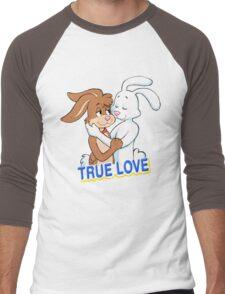 TRUE LOVE NESQUIK TRIX RABBITS  Men's Baseball ¾ T-Shirt
