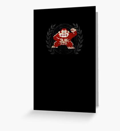 Donkey Kong - Sprite Badge Greeting Card
