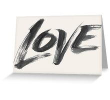 Bold Brush Strokes Love Word Hand Lettering - Artistic Zen-like Calligraphy for Valentine Greeting Card