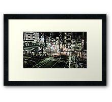 Tokyo Crossing Framed Print