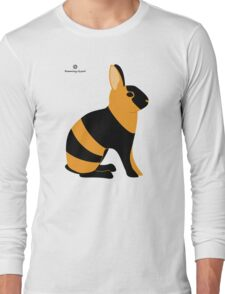 Black Japanese Rabbit Long Sleeve T-Shirt