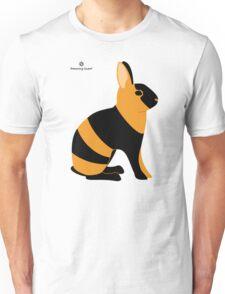 Black Japanese Rabbit Unisex T-Shirt