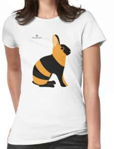 Black Japanese Rabbit Womens Fitted T-Shirt