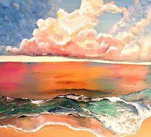 Acrylic Beach by Lynn Brasher
