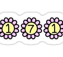 21719 colorful sunflowers (camp louise) Sticker