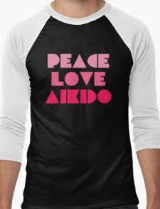Peace Love Aikido Men's Baseball ¾ T-Shirt