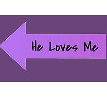 He Lubbs Me!!!  Photographic Print