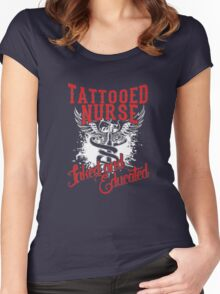tattooed nurse Women's Fitted Scoop T-Shirt
