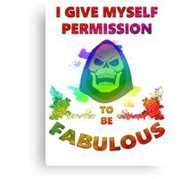 Skeletor Pride Canvas Print