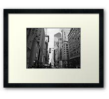 New York City Manhattan Grayscale Photograph Framed Print