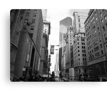 New York City Manhattan Grayscale Photograph Canvas Print
