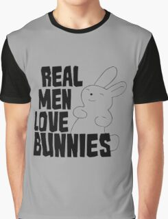 Real Men Love Bunnies Graphic T-Shirt