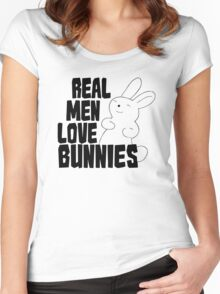 Real Men Love Bunnies Women's Fitted Scoop T-Shirt