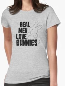 Real Men Love Bunnies Womens Fitted T-Shirt