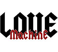 Love Machine - Cool Gifts Design Photographic Print