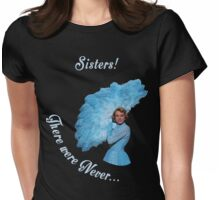 White Christmas Sisters-1 Womens Fitted T-Shirt