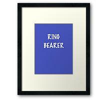 Ring Bearer Framed Print