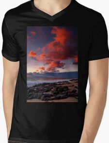 Rocky Sunset Mens V-Neck T-Shirt