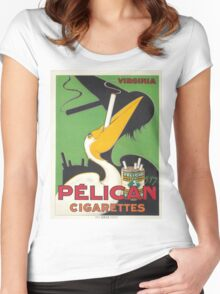 Vintage poster - Pelican Cigarettes Women's Fitted Scoop T-Shirt
