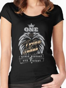 ONE In Tribe of Judah | Bible History = Our History Women's Fitted Scoop T-Shirt