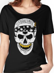 Flatbush Zombies White Skull Tee Women's Relaxed Fit T-Shirt