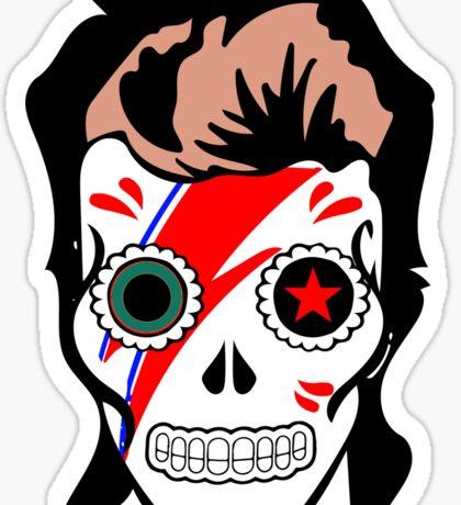Bowie Sugar Skull Sticker