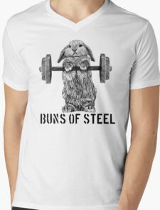 Buns of Steel (Light) Mens V-Neck T-Shirt